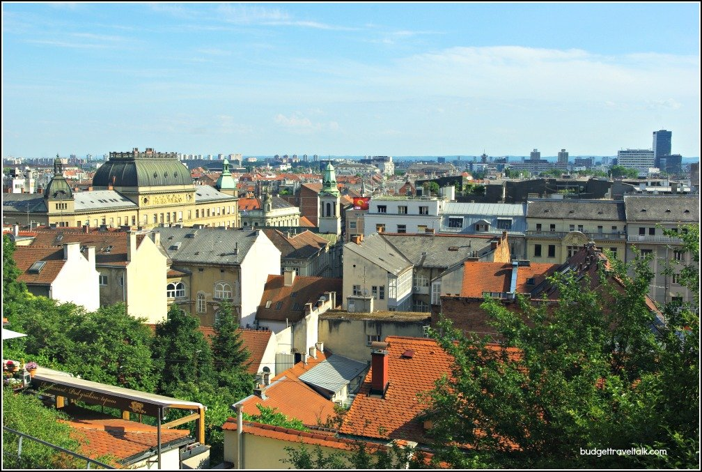 Zagreb Rooftops from the Upper Town