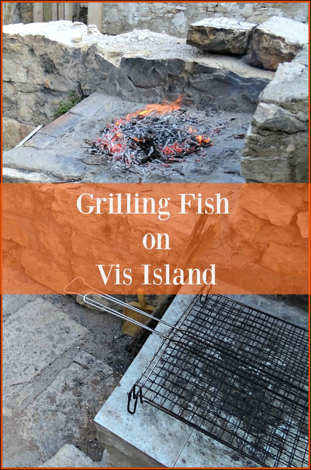 Grilling Fish on Vis Island, Croatia