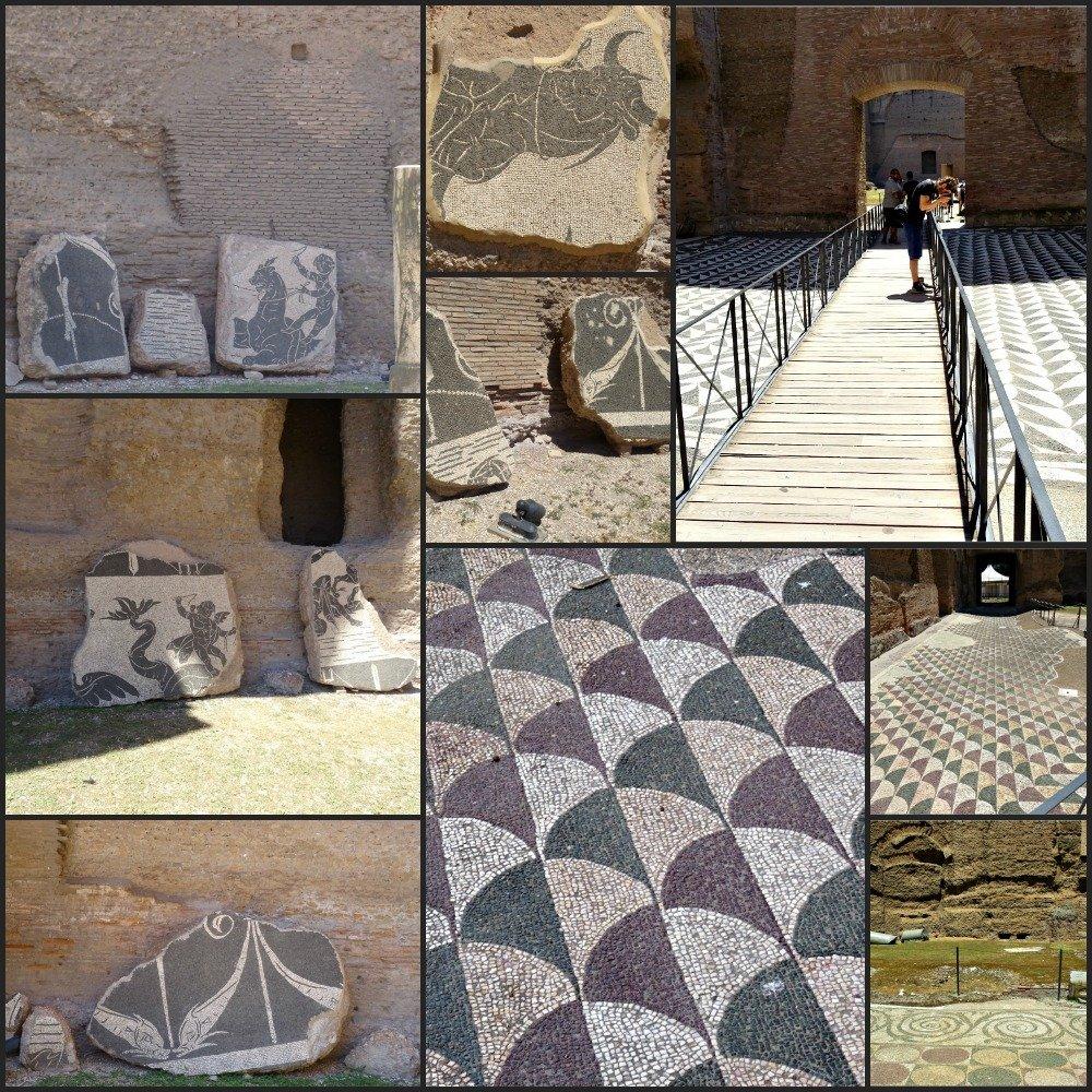 Terme di Caracalla Roman Tile Mosaics