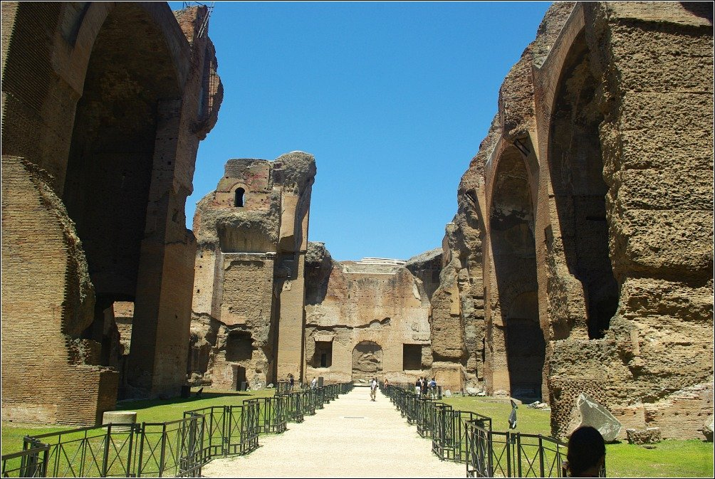 Terme di Caracalla Within the Ruined Spa Complex