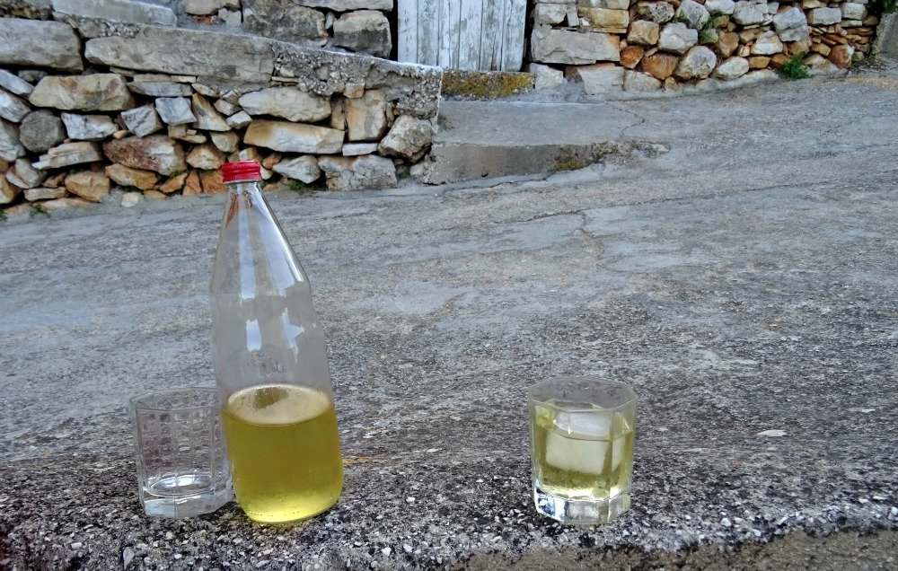 Home made wine Vis Island Croatia