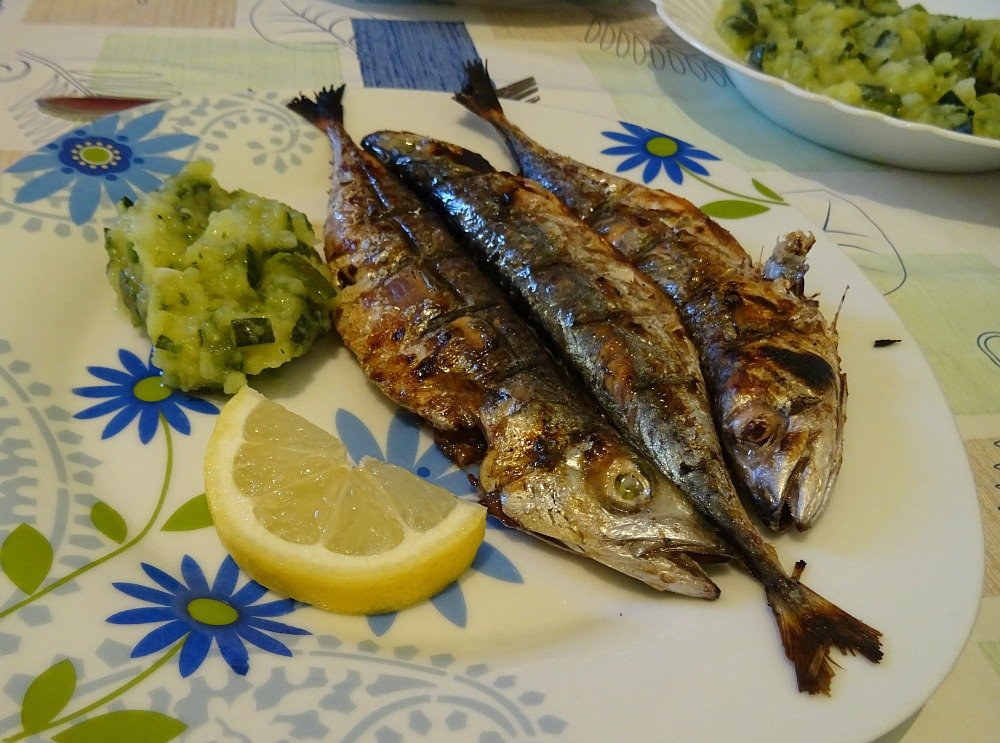 Vis Island Grilled Blue Fish with Potato and Zucchini
