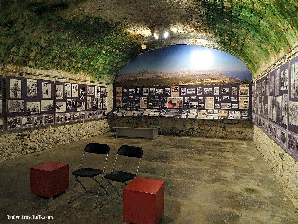 Dubrovnik Homeland War Museum Film room Mt. Srd Croatia