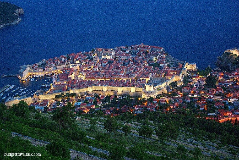 Dubrovnik from Mt. Srd Croatia