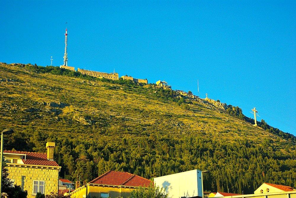 Mt. Srd from Dubrovnik Grad