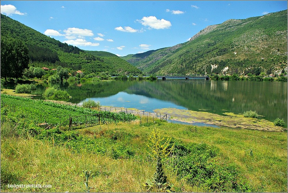 Bucolic scenes beside the Trebisnjica River East Herzegovina on our way to the mountain border pass with Montenegro.