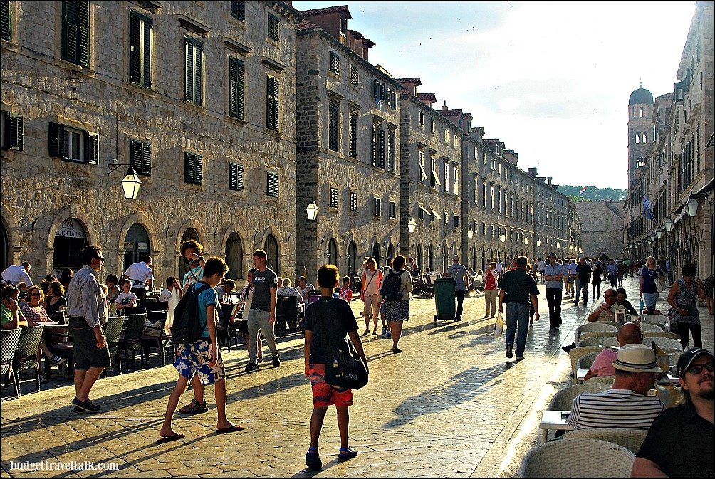 The Stradun or main street of Dubrovnik in Croatia