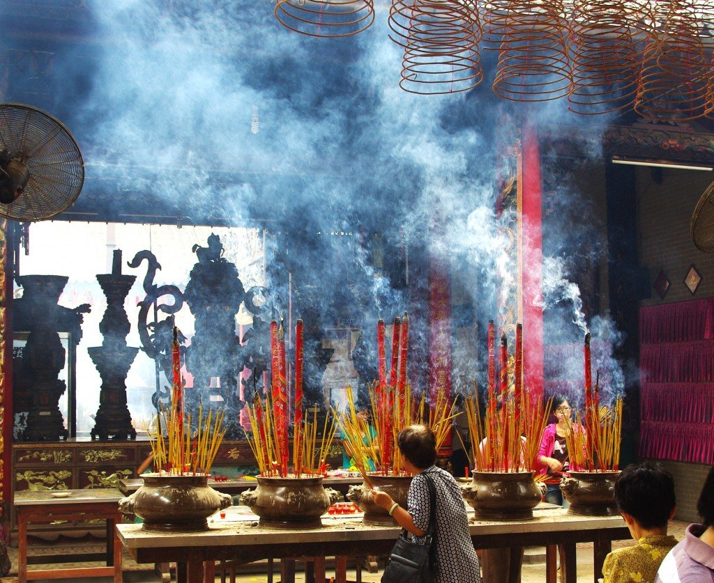 Incense in a Saigon Temple