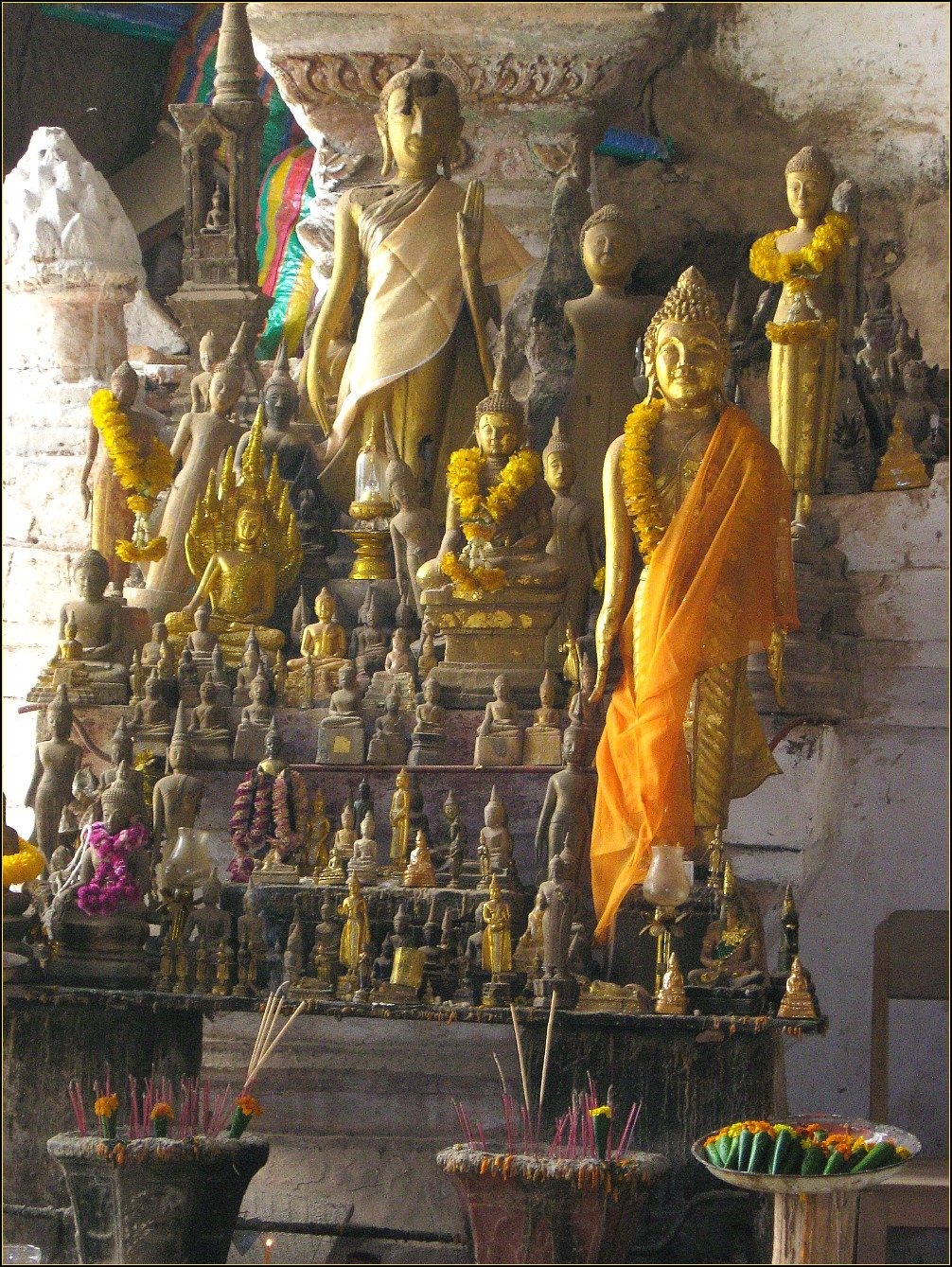 Buddha Statues Pak Ou Caves Mekong River