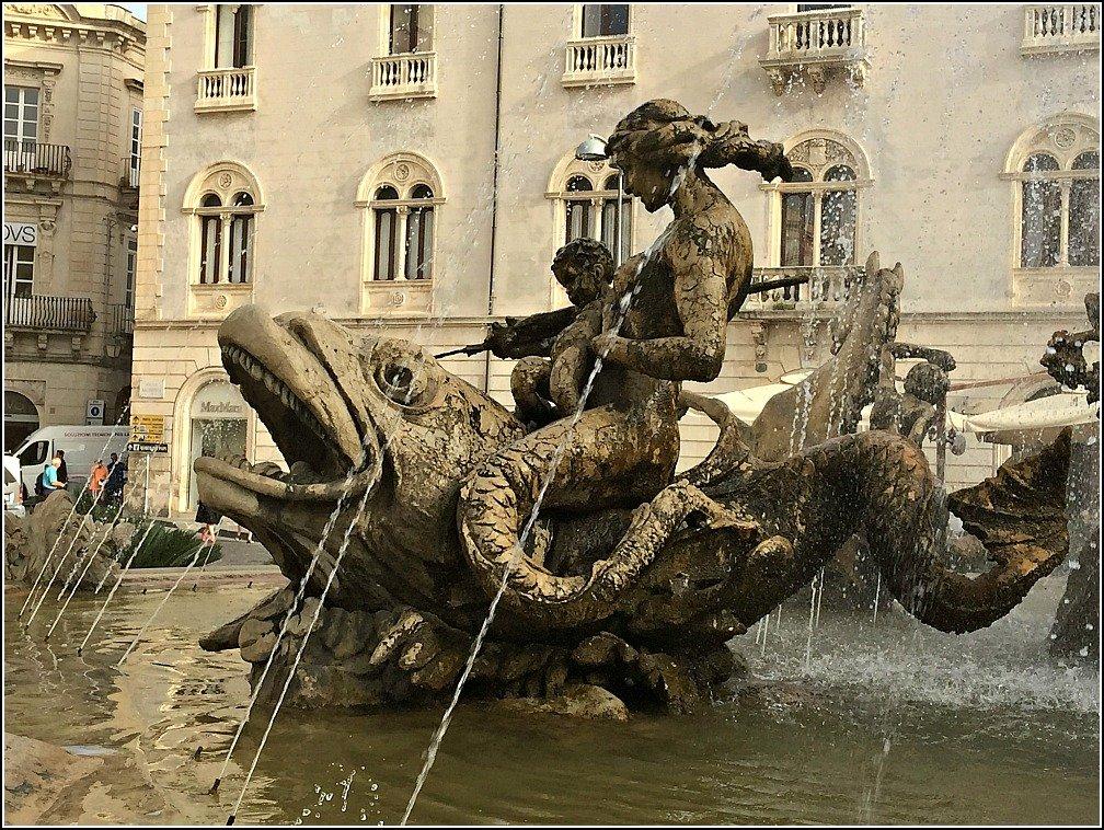 Diana Fountain Ortigia Siracusa Sicily