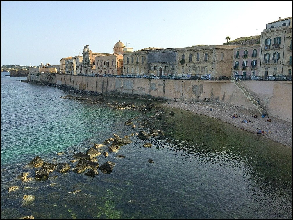 Following the Seawalls of Ortigia was always going to be on our Itinerary
