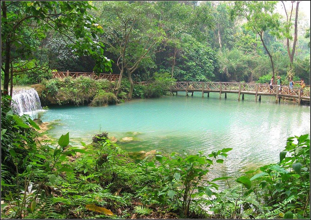 Kouang Si Waterfall Luang Prabang Swimming