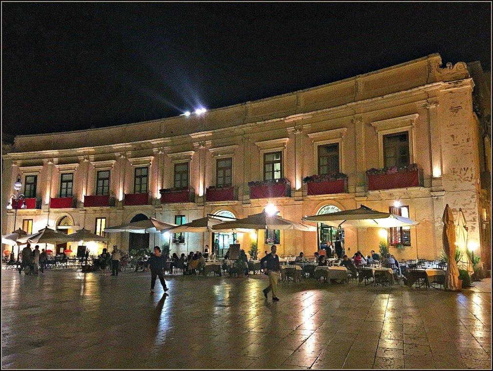 Piazza Duomo Ortigia Siracusa is romantic at night