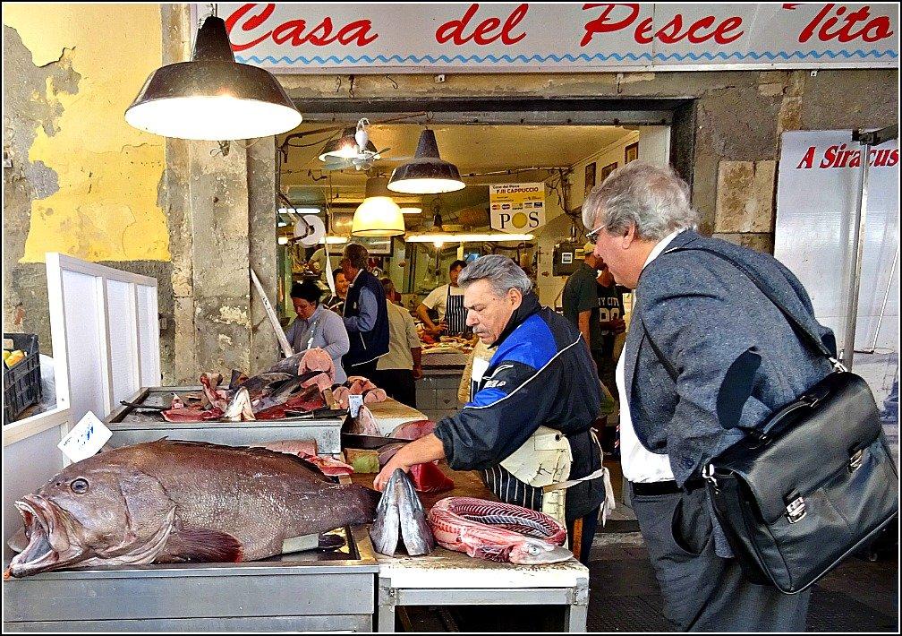 Fish at Ortigia Markets Siraacusa Sicily