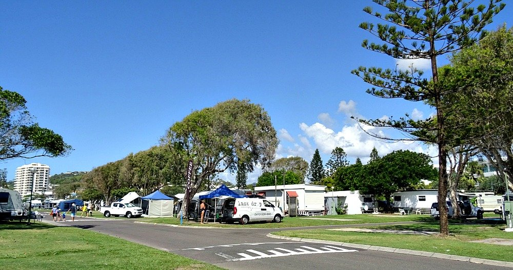Mobile Coffee Van at Coolum Beach Holiday Park during Easter School Holidays
