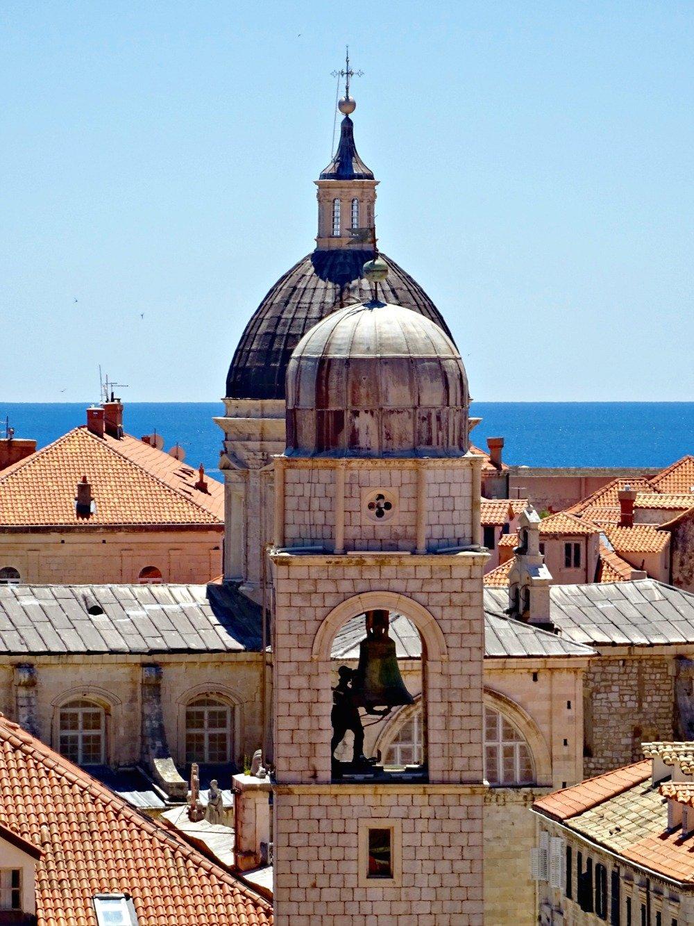 Dubrovnik clock tower from the walls