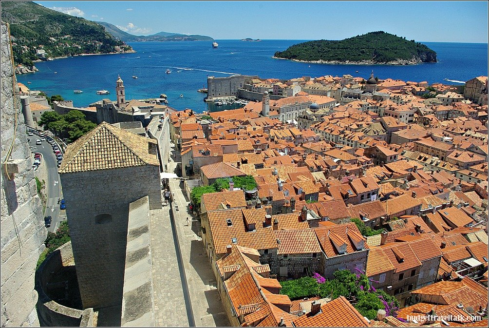 Dubrovnik wall town and island