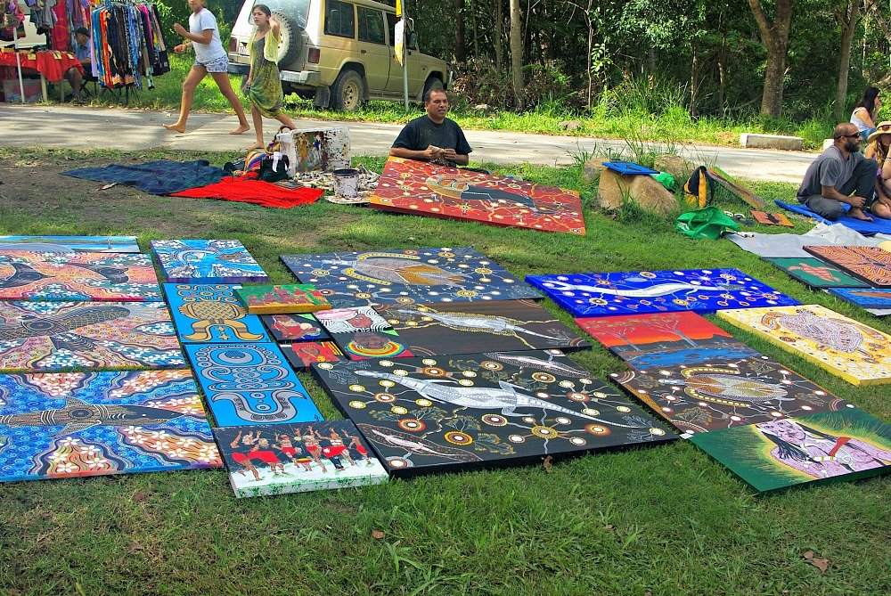 Mullum Community Market Aboriginal Painting