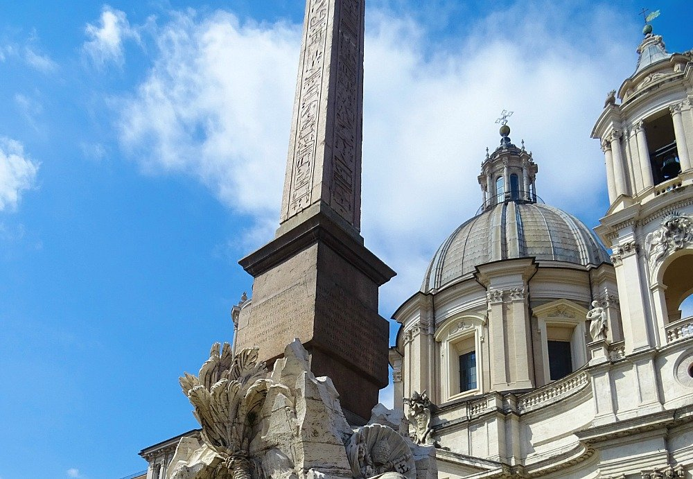 Piazza Navona Roman Commissioned Egyptian Obelisk