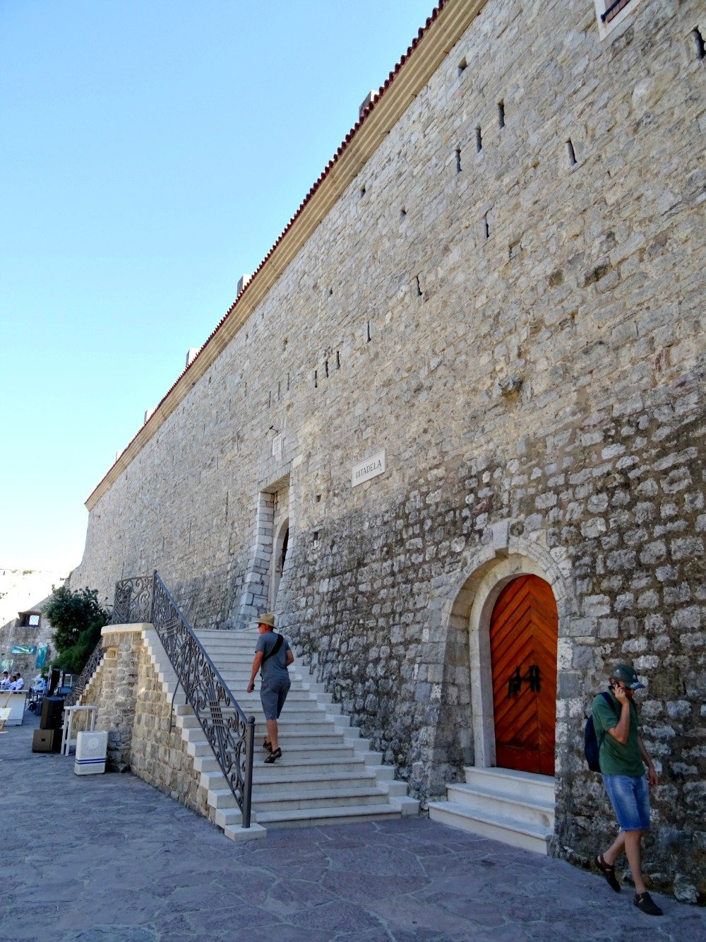 Entering Budva Citadel Old Town