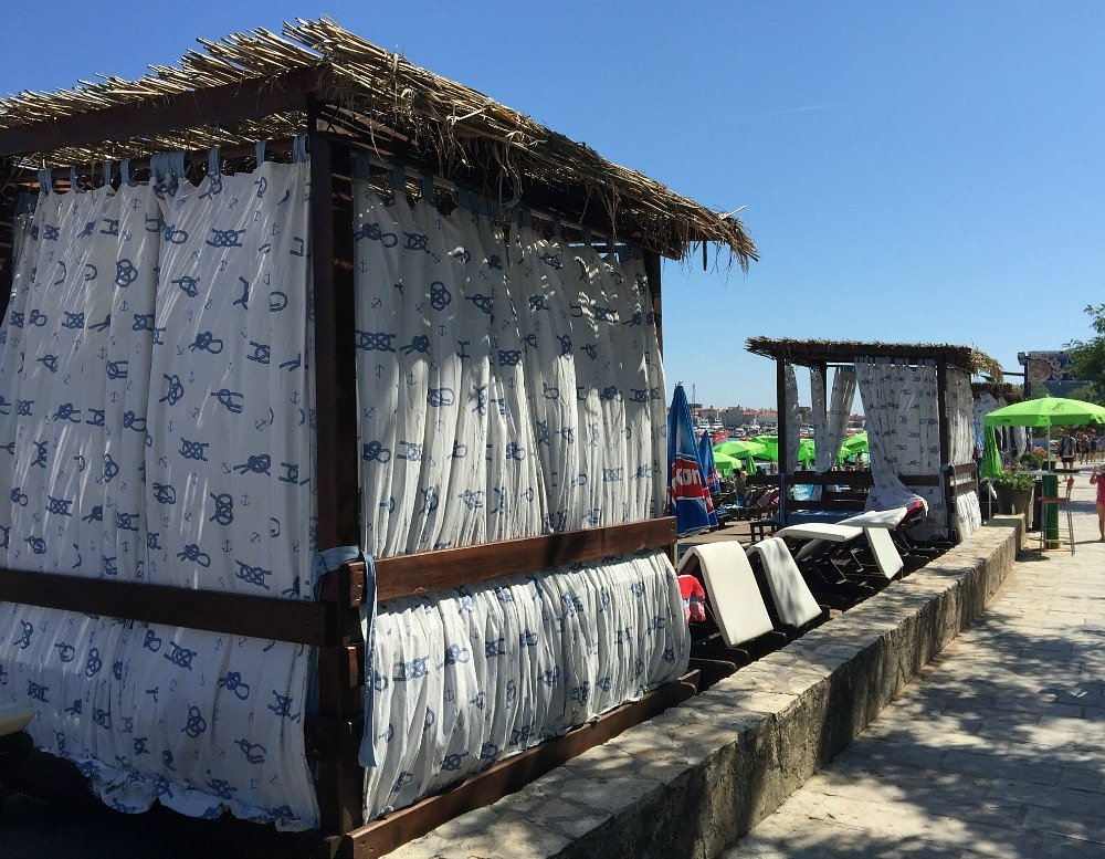 Budva beach cabanas