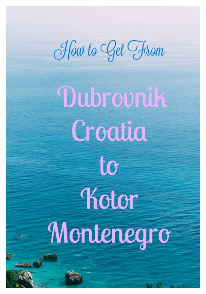 Photo of the Blue Adriatic and Pink Sky in Montenegro Dubrovnik to Kotor