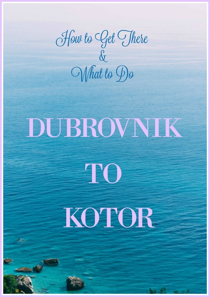 Pink Sky and Blue Ocean at Montenegro for Our Guide to how to get from Dubrovnik to Kotor