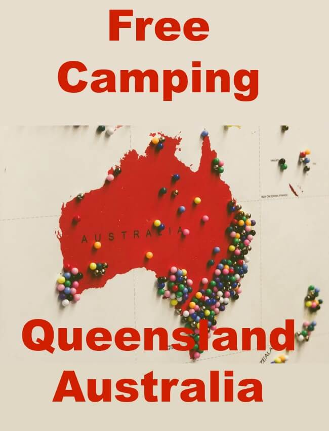 Map of Australia for Free Camping Pin
