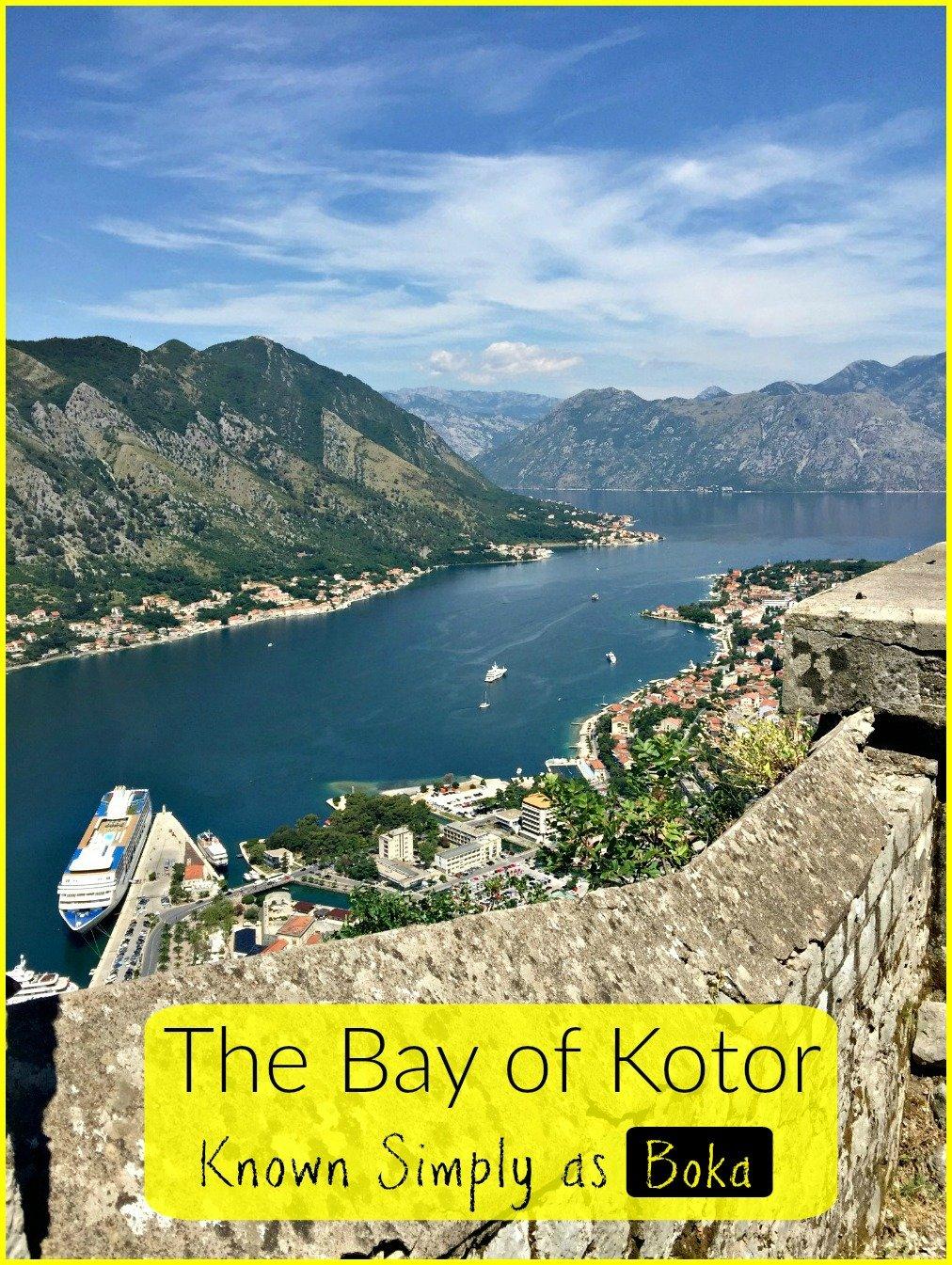 Boka the Bay of Kotor Montenegro