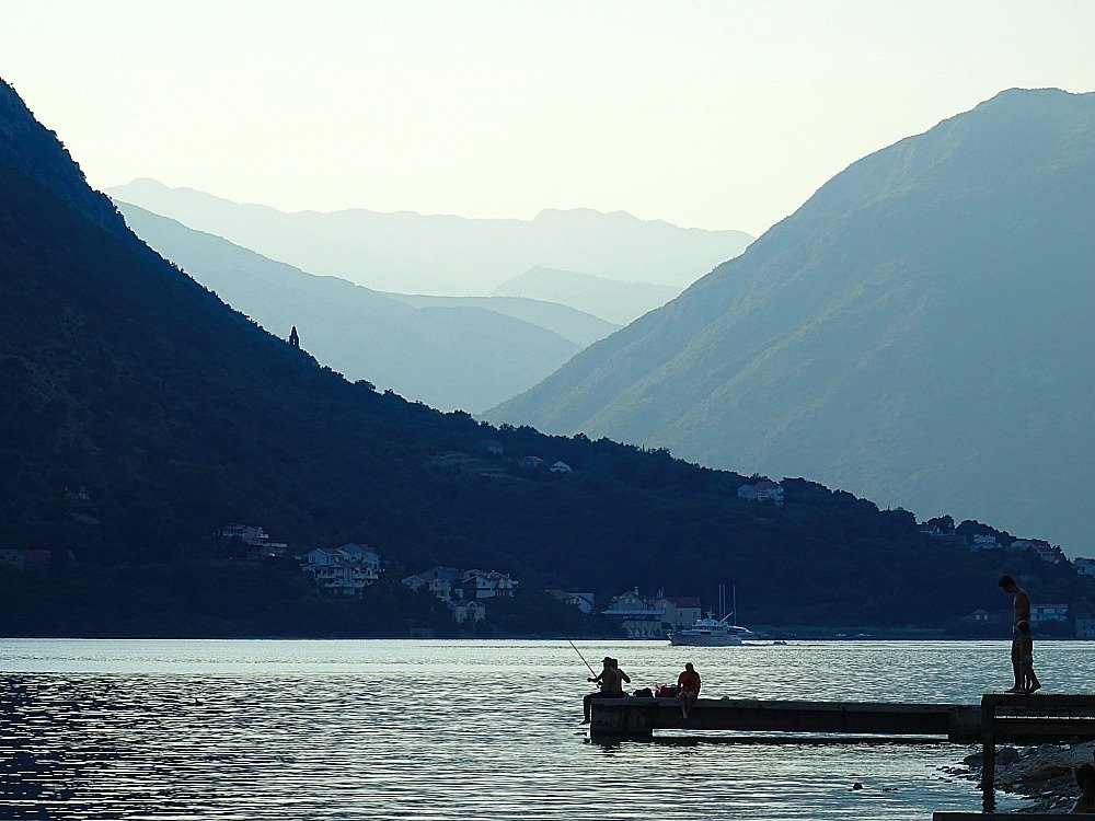 Montenegro Fishermen on Jetty at Kotor