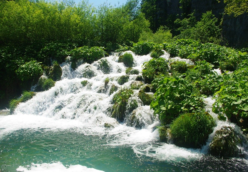 Plitvice Green and Rushing Water