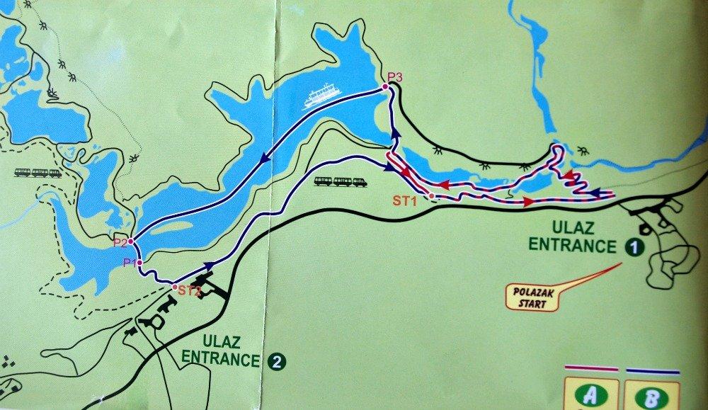 Plitvice Lakes Map Boat
