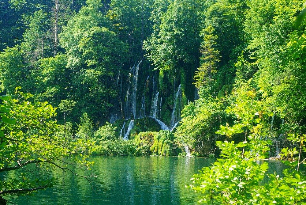 Plitvice Lakes Multiple waterfalls