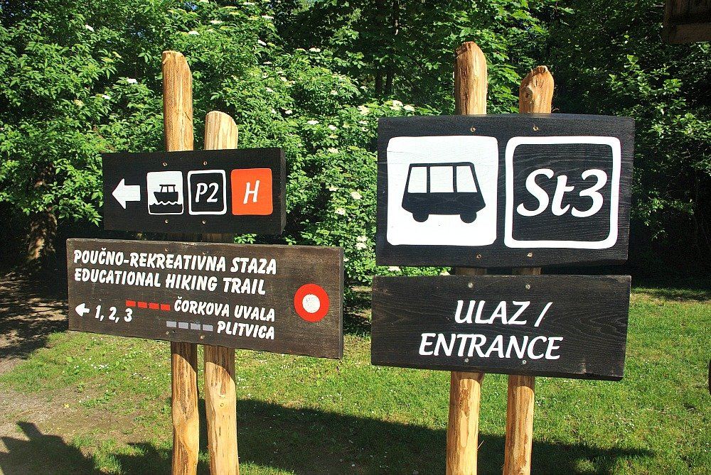 Plitvice Lakes Trail Signs