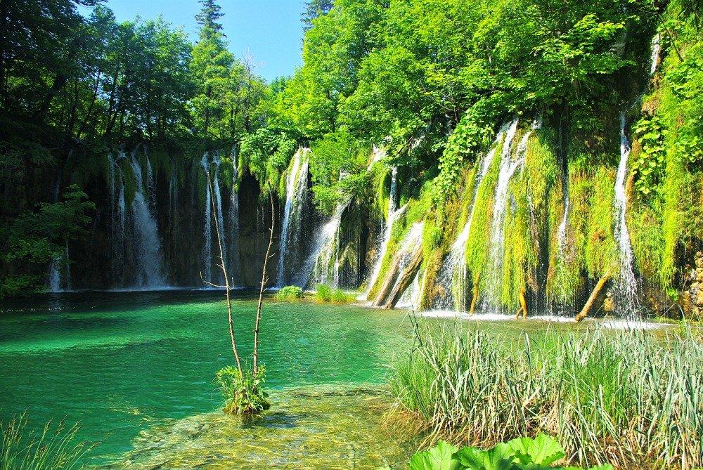 Plitvice Lakes multi falls