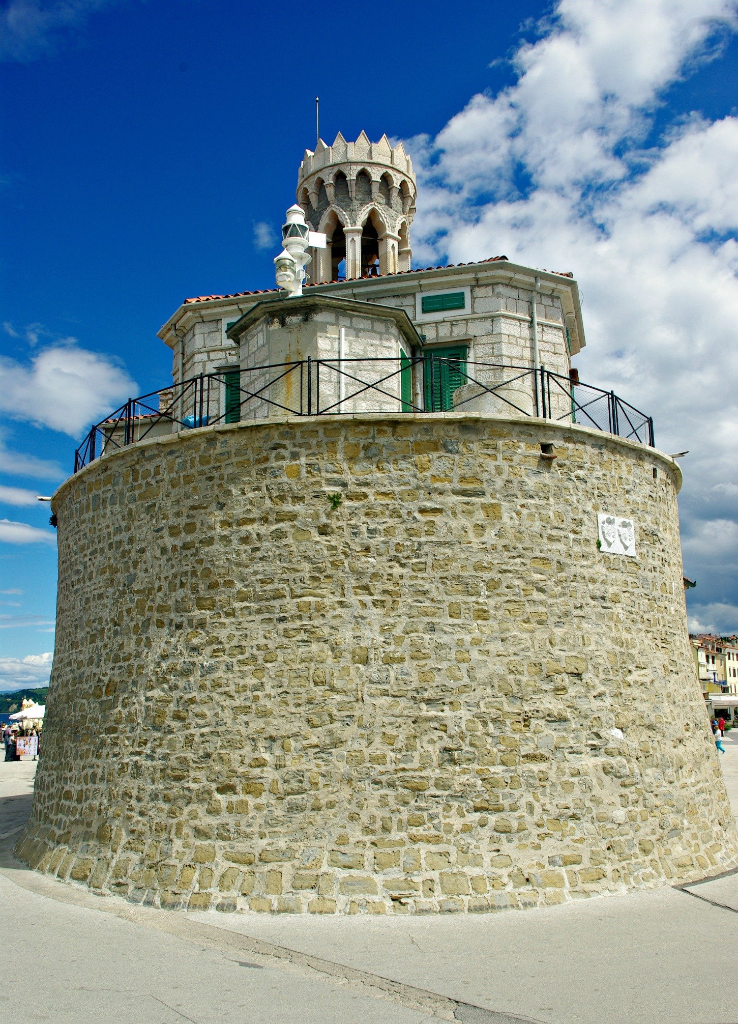 Piran Lighthouse and Bell Tower of Lady of Health Church
