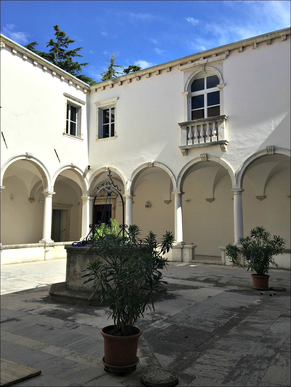The cloister of the Friars Minor