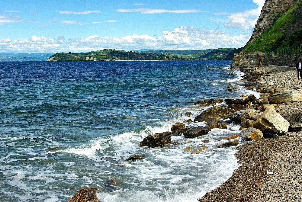 Piran looking north along the coast