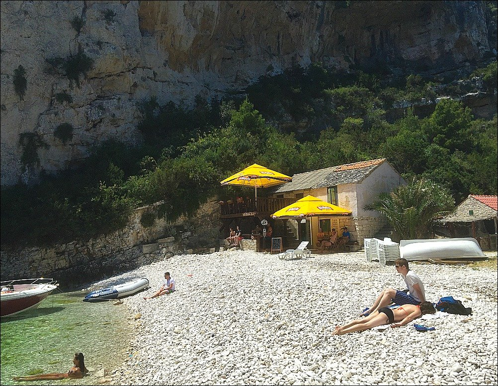 Stiniva Beach Bar Vis Island Croatia