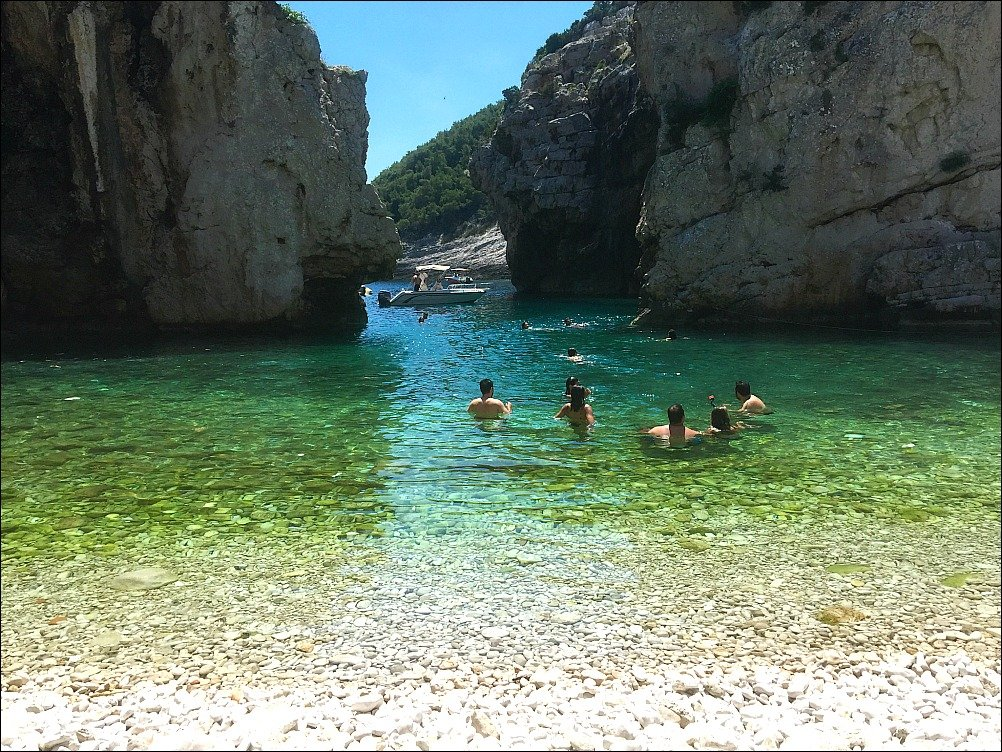 Stiniva Beach on Vis Island, Croatia