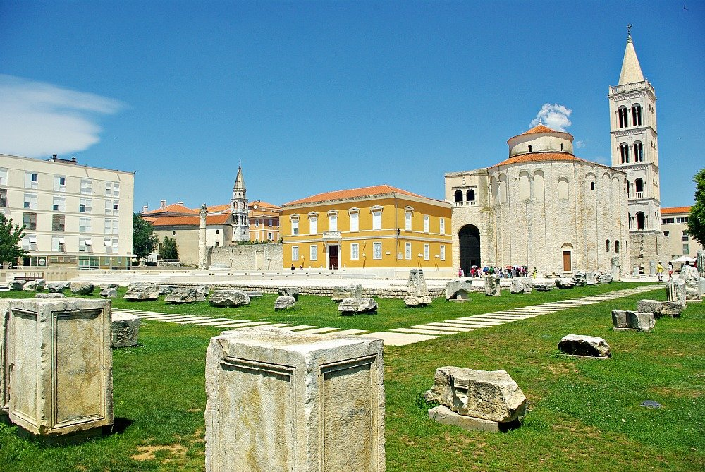 Zadar Roman Forum and St. Donatus Church