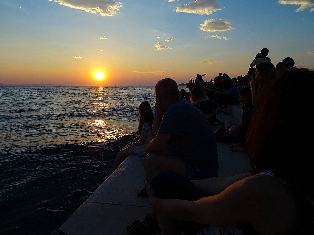 Zadar Sunset from the Sea Organ