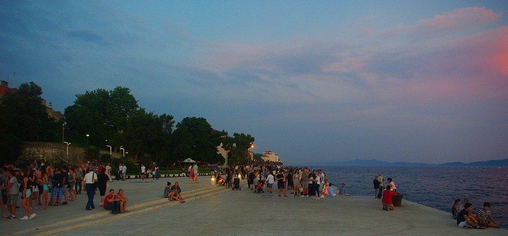 Zadar Waiting for Sunset on the Riva
