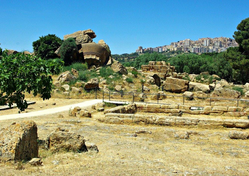Agrigento Ruins Bridge from Ridge