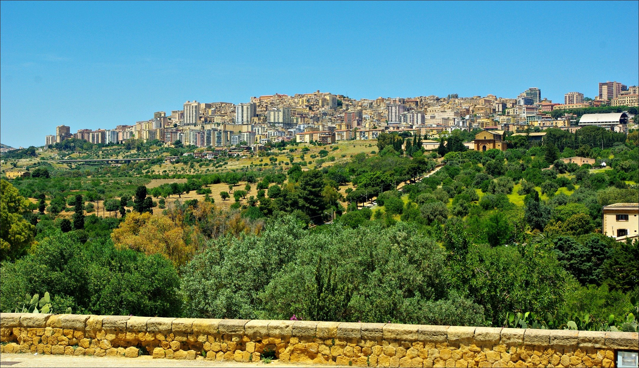 Agrigento, Sicily from Valley of the Temples