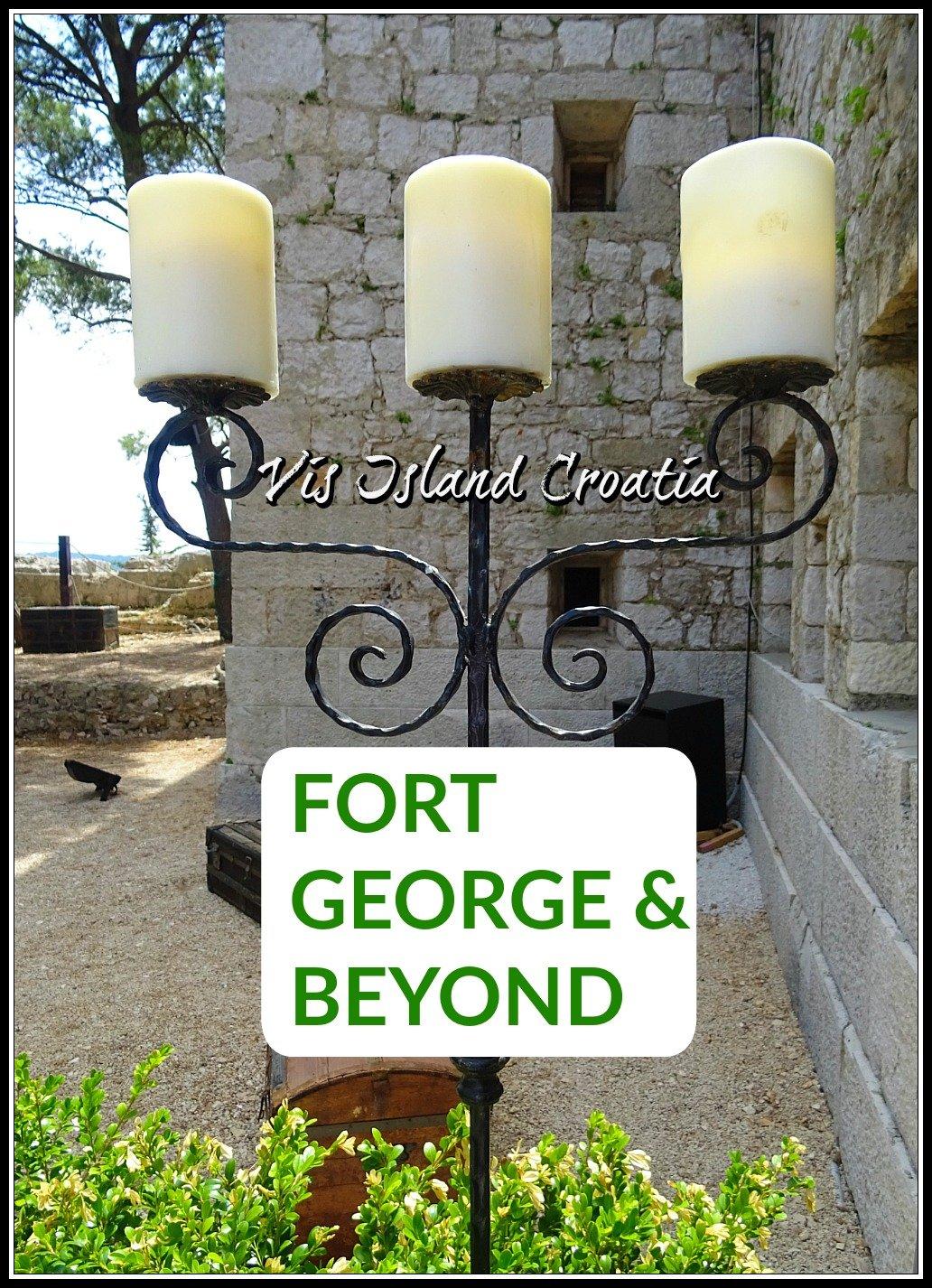 Fort George on Vis Island Croatia