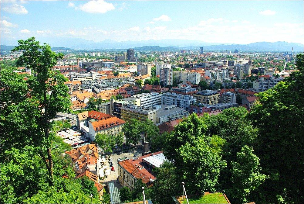 Ljubljana City View from Castle