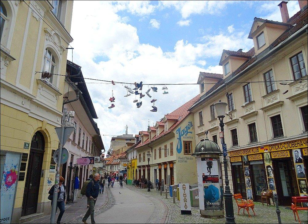 Ljubljana Trubarjeva Street Scene