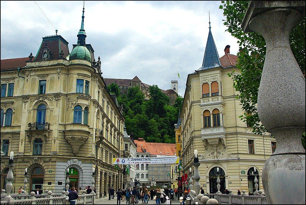Ljubljana bridge to castle