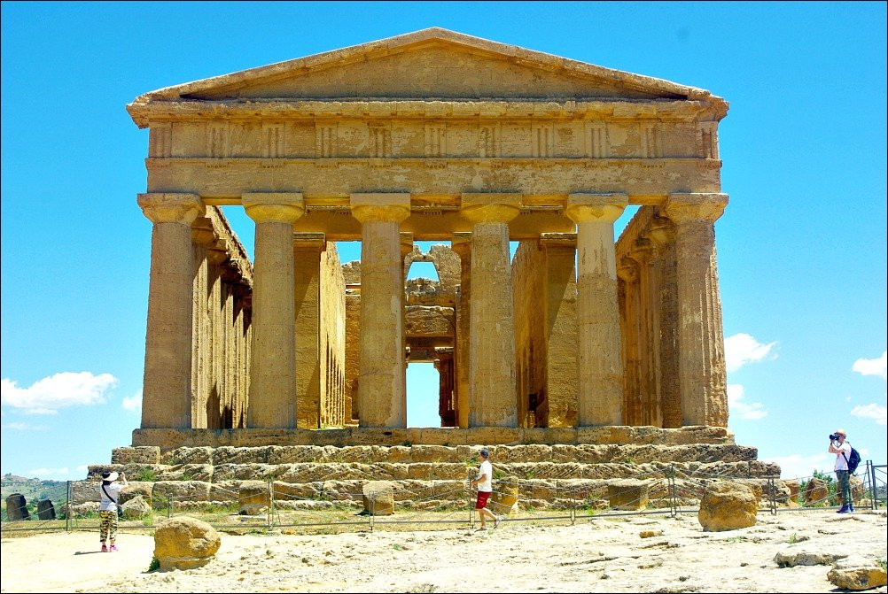 Temple of Concordia Agrigento Front View